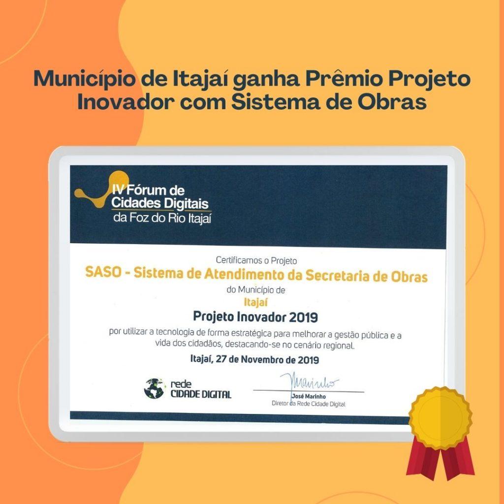 Prêmio Projeto Inovador RCD: Sistema de Obras